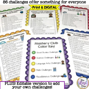 Mastery Club Challenge  Fast Finishers & Enrichment Activities Students Love!