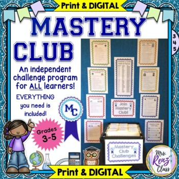 Mastery Club for your Fast Finishers  Challenge & Differen