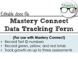 Mastery Connect Data Tracking Form
