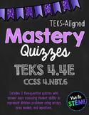 Mastery Quiz 4.4E: Division Arrays, Area Models, & Equatio