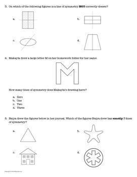 Mastery Quiz 4.6B: Lines of Symmetry {TEKS 4.6B}