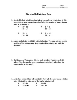 Mastery Quizzes