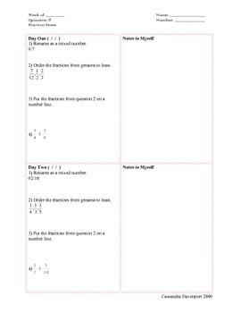 Mastery Review Quizzette - Fraction Sense