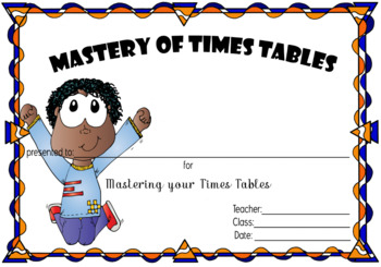 Mastery of Times Tables