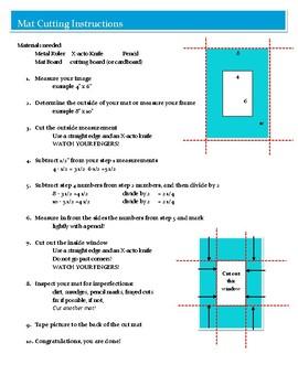 Mat Cutting Instructions Handout
