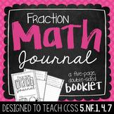 5th Grade Fraction Math Journal