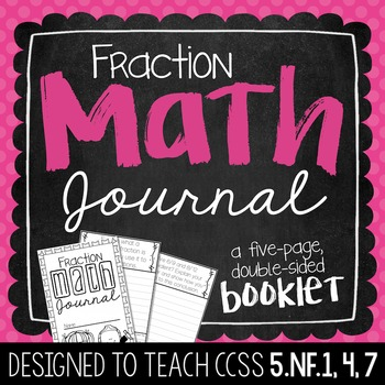 5th Grade Fraction Math Journal