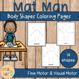 Mat Man Body Shapes Coloring Pages