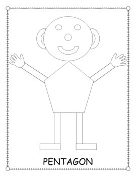 Mat Man Body Shapes Coloring Pages By Cota Life Tpt