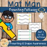 Mat Man Prewriting Pathways - Set 1