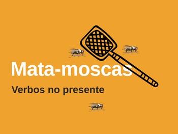 Presente Mata-moscas Flyswatter Portuguese verb game