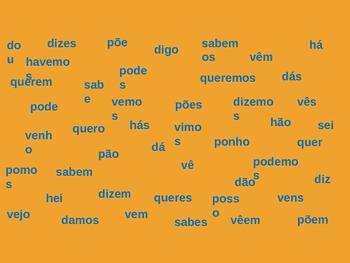 Portuguese Present Tense Presente Mata-moscas Flyswatter Game