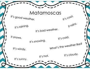 Spanish Weather Expressions Matamoscas (Flyswatter) Game