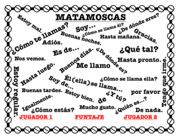 Matamoscas - Greetings and Introductions Vocabulary