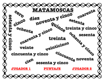 Matamoscas - Numbers 0-100 (by fives) Vocabulary