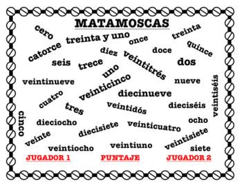 Matamoscas - Numbers 0-31 Vocabulary