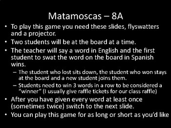 Matamoscas (Realidades I - 8A)