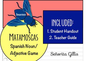 Matamoscas Spanish Noun/Adjective Agreement Game