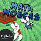 Matamoscas! Spanish time telling class activity