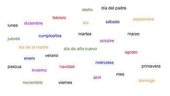 Matamoscas Using Days, Months, Holidays, and Seasons in Spanish
