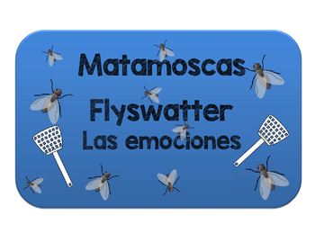 Matamoscas adjetivos de emoción. Flyswatter to review adjectives of emotion.