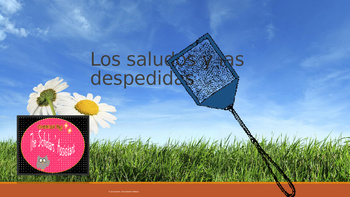 Matamoscas Spanish Vocabulary Game (Greetings)