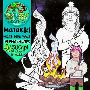 Matariki Clip Art {Maori New Year}