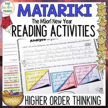 Matariki New Zealand Reading Comprehension Texts Higher Order Thinking Tasks