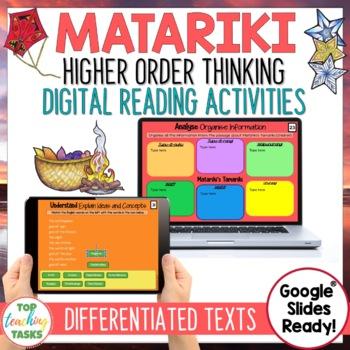 Matariki Digital Reading Comprehension Activity for Google Slides