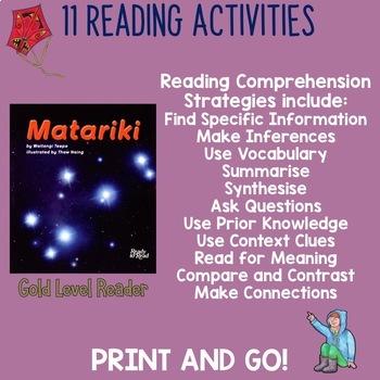 Matariki Gold Level Follow Up Reading Comprehension Activities