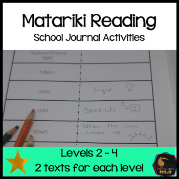 Matariki School Journal linked activities