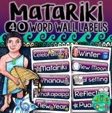 Matariki Word Wall Labels
