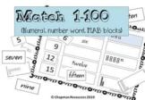 Match 1-100 (numeral, number words and MAB blocks)