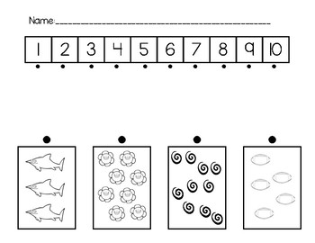 Match 1 to 10 with Number Line
