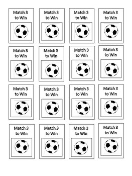 Match 3 Scratch-off Tickets- Sports Theme
