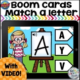 Boom Cards Match A Letter - Happy Kids with Video