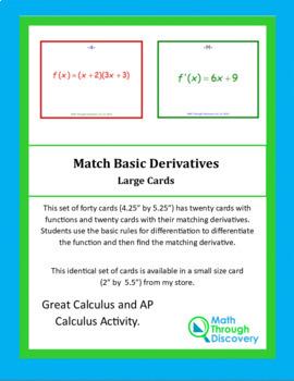 Calculus:  Match Basic Derivatives