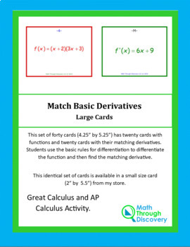 Match Basic Derivatives - Large Cards