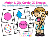 Match & Clip Cards - 2D Shapes