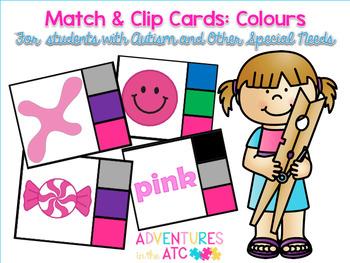 Match & Clip Cards - Colours