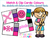 Match & Clip Cards - Colours
