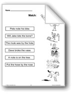 Match, Cut and Paste, Read and Answer
