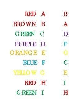 Match Drawn a Line Upper Case Alphabet Colors Kindergarten