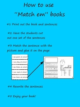"""Match Em"" Easy Reader: Big or Little"