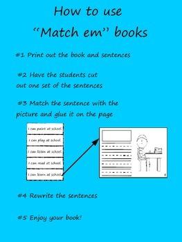 """Match Em"" Easy Reader: Getting to School"