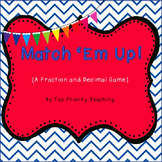 Fraction and Decimal Game - Match 'Em Up!