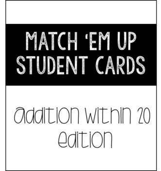 Match 'Em Up: Adding and Subtracting
