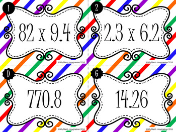 Match 'Em Up! - Multiplication of Decimals and Whole Numbers