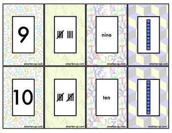 Match Four Place Value Game Cards to 10