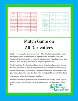 Match Game on All Derivatives
